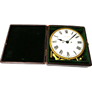 Rare American Waltham Travel/Night Clock Watch in Original Case, c1885