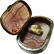 Rarest Agate, Brass & Steel Pocket Tinder Box with Flint, late 18th century
