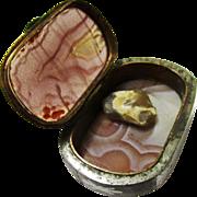 Rarest Agate, Brass & Steel Pocket Tinder Box with Flint, late 18th century