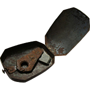 Classic Early Steel Tinderbox with Flint & Steel, early 19th Century