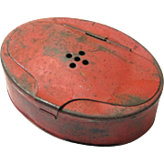 Red Tole Live Bait Box for Fishing, early 20th Century