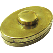 Unusual Brass Tobacco/Tinderbox with Magnifying Glass