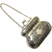 Stylish Russian Silver & Niello Coin Purse, c1908