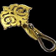 Stylish Gilt Metal Key Holder or Single-purpose Chatelaine, late 19th Century