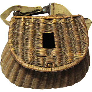 Finely Woven French Fishing Creel, c1915