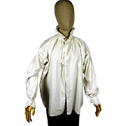 Elegant Gentleman's Ruffled Shirt, Regency