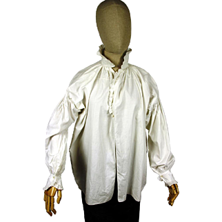 Elegant Gentleman's Ruffled Shirt, Regency