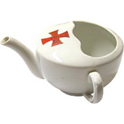 Classic Red Cross Invalid Feeding Cup, Ceramic, early 20th Century