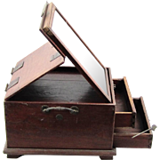 Chinese Toiletry/Dressing Box with Folding Mirror, c1880