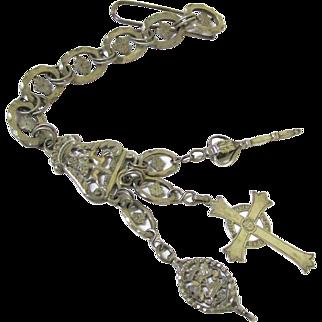 Rare Continental Silver Religious Chatelaine, Upper Bavaria, 18th Century