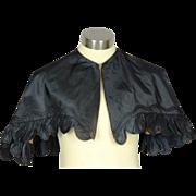 Elegant Civil-War Era Black Silk Pelerine