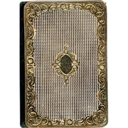Silver Gilt Aide Memoir with Calendar dated 1856, French