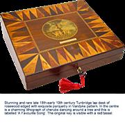 Rosewood Tunbridgeware Lap Desk or Writing Slope, late 18th-early 19th century
