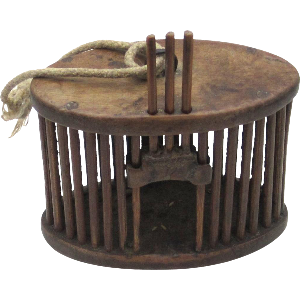 Chinese Bamboo Cricket Cage, c1875