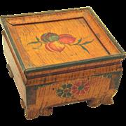Tibetan Spice Box, painted Folk Art treen, c1900