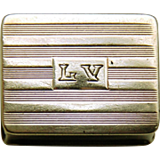 Vintage Sterling Silver Volupté Pill Box, Mid-20th Century