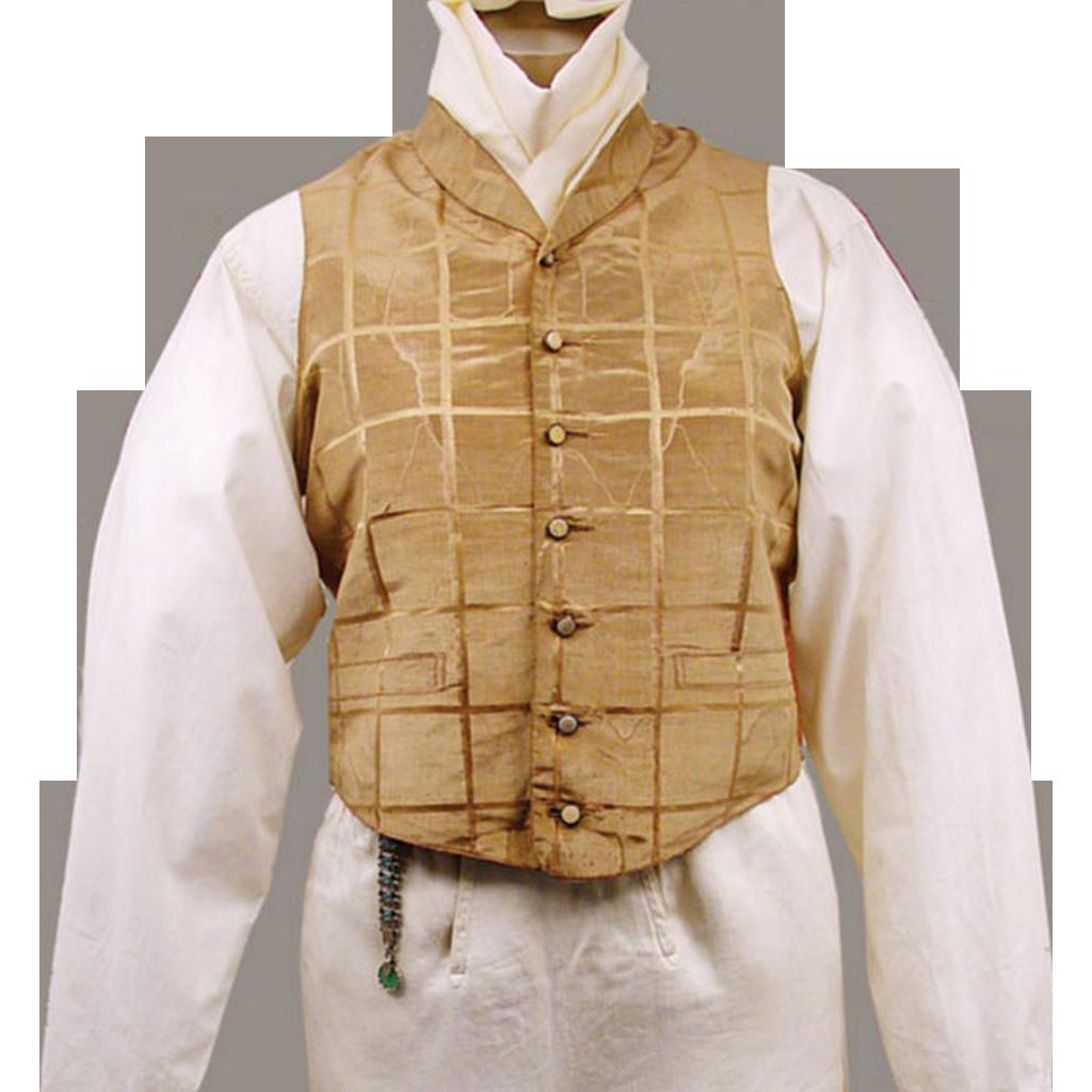 Late Regency Silk Waistcoat for a Gentleman