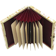 Lovely Mother of Pearl Card Case with Concertina Interior with Original Calling Cards