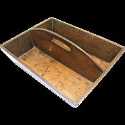 Classic English Oak Cutlery Box, c1860