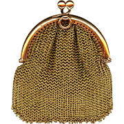 Beautiful Rose Gold Chatelaine Coin Purse, Victorian