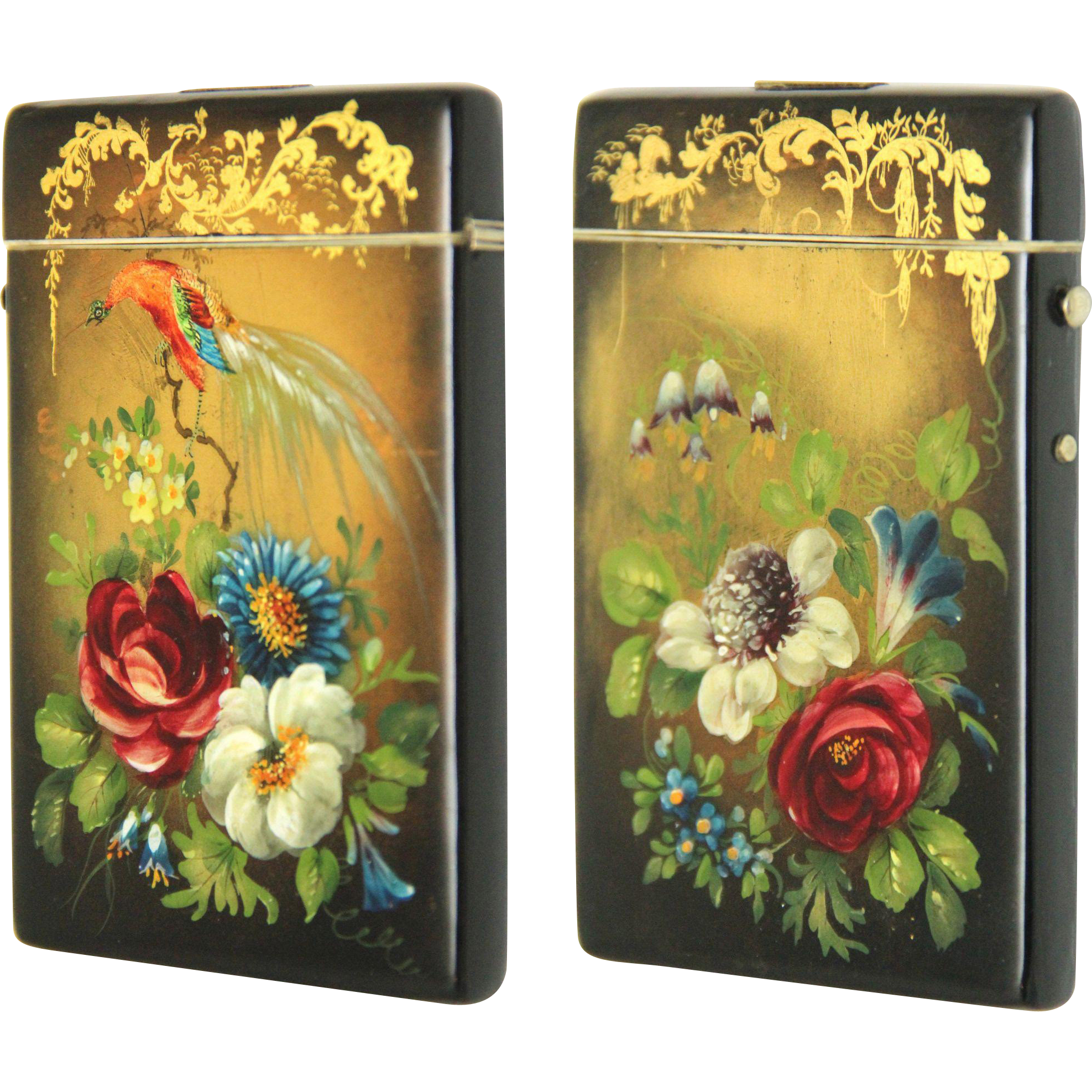 Spectacular Papier Mache Card Case, Victorian from boxes ...