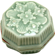 Oriental Celadon Rouge or Ink Box, 19th Century