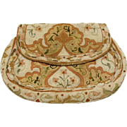 Oriental Embroidered and Beaded Clutch Purse, early 20th Century