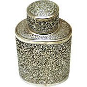 Attractive Indian Silverplate Tea Canister/Caddy, Late 19th Century