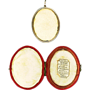 18th Century Red Leather Case by Miers with Original Locket