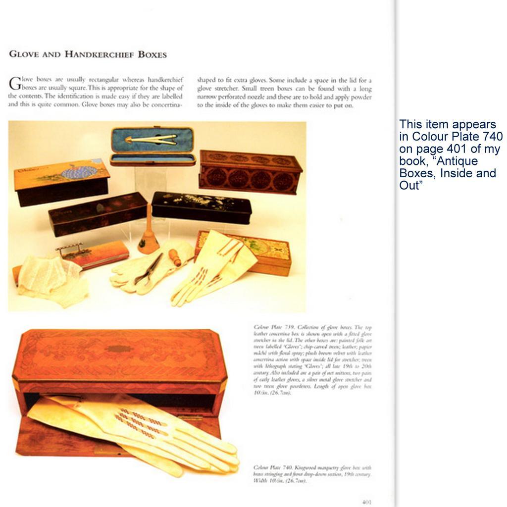 Intricate chip carved glove box in silky oak late th