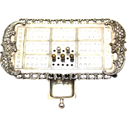 Silverplate Cribbage Board with Five Original Pegs, American, early 20th Century