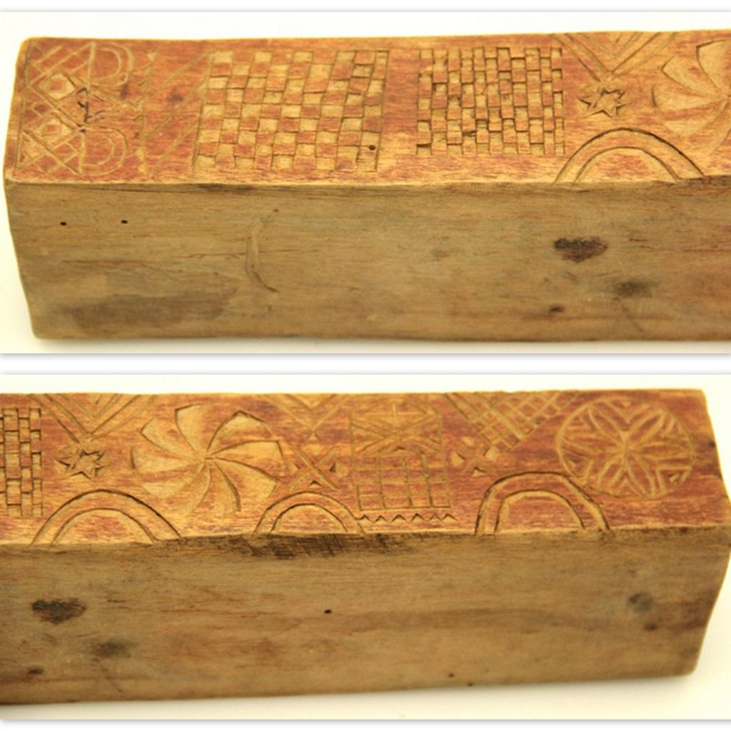 Special chip carved box dated with monograms and