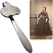 American Silver Watch Chatelaine Button-style and CDV, Mid-19th Century