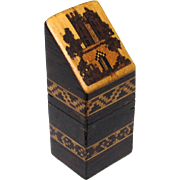 Quality Tunbridge Needle Box in Knife Box-form, Victorian
