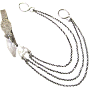 Sterling Silver Scissors Chatelaine, 19th Century
