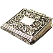 Rare Regency Silver Filigree Needle Book