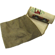 Work Box Sampler Roll with Varieties of Stitches, c1860