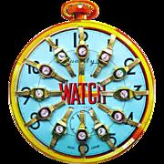 Vintage Children's Toy Watch Advertising Display, c1940s