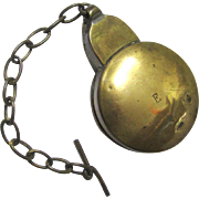Victorian Railways Brass Pocket Watch Case and Chain