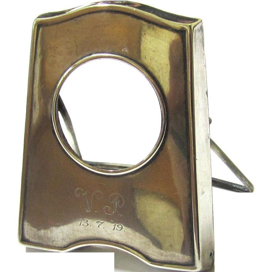 Vintage Sterling Silver Miniature Picture Frame, c1916