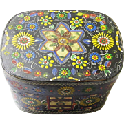 Intricately Painted Folk Art Box, possibly German, early 20th Century