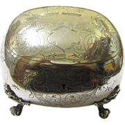 Attractive Continental (Austro-Hungarian) Silver Sugar Box, 19th Century