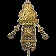 Special Silver Gilt Waist Plaque for Watch or Étuis, c1740