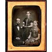 Mathew Brady Daguerreotype depicting family, c1850