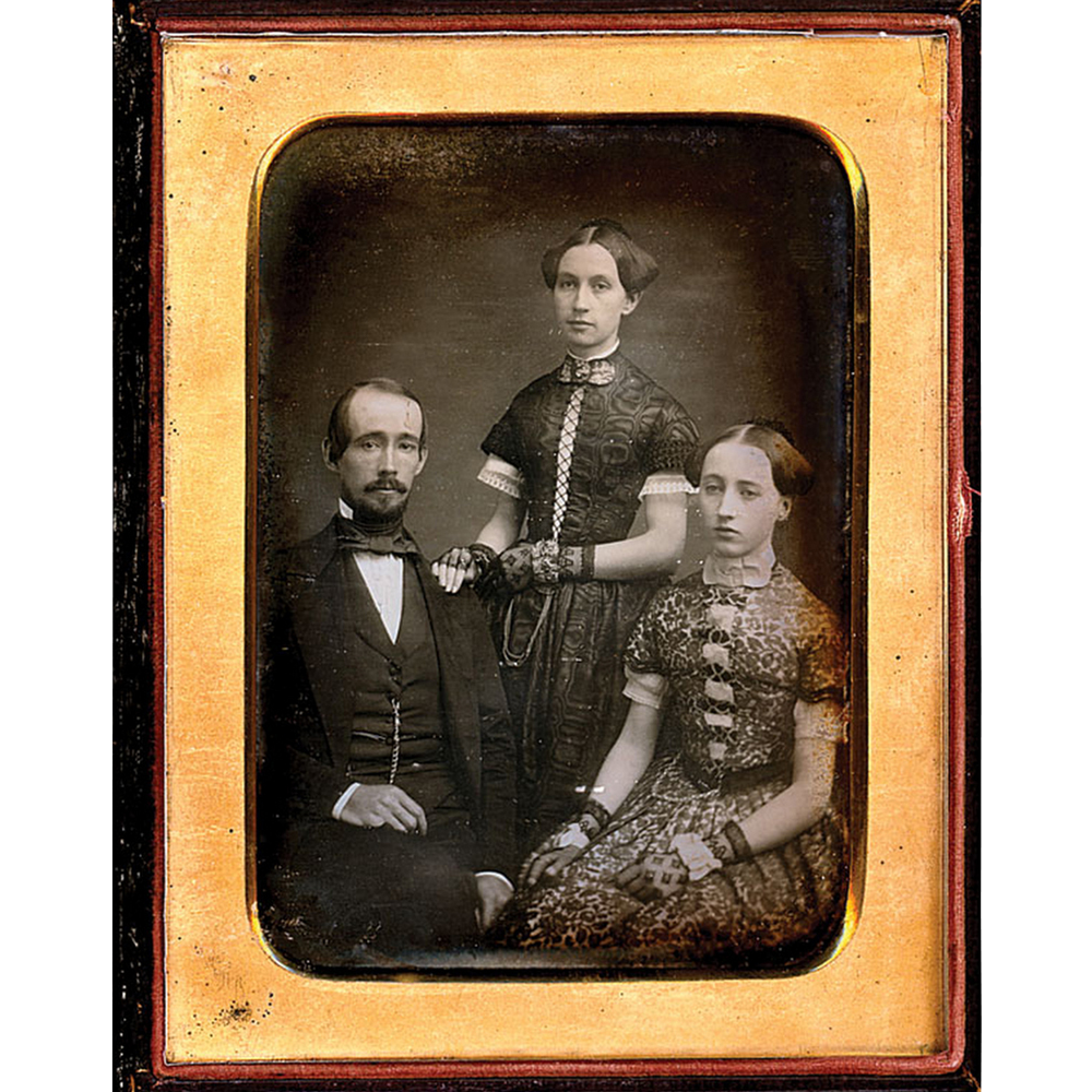 Mathew Brady Daguerreotype depicting family, c1850