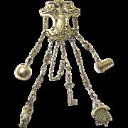 Stunning Silver-gilt Art Nouveau Chatelaine, c1900 with Rare Appendages