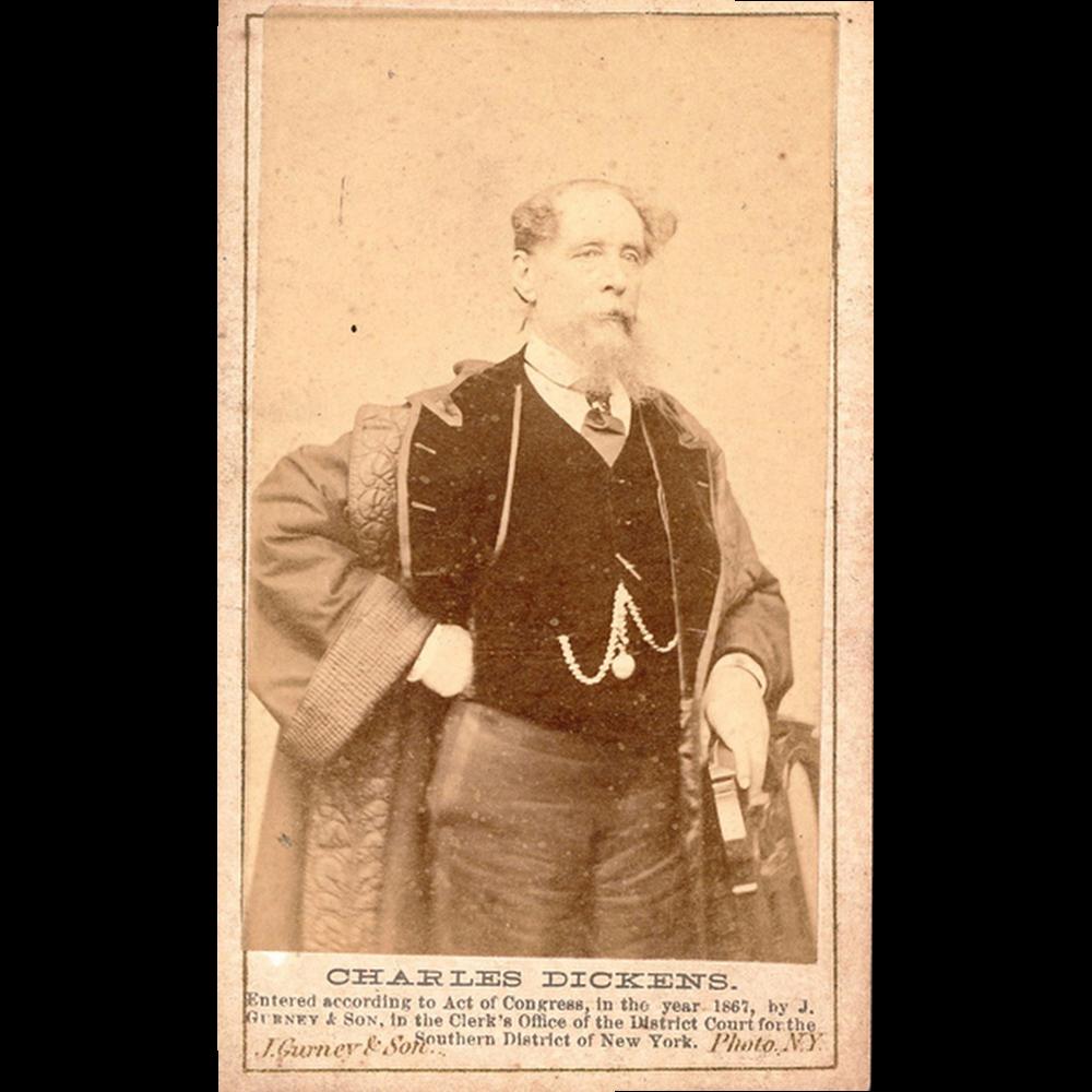 Rare Carte de visite Charles Dickens, New York, 1867