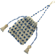 Captivating Tiny Beaded Purse for a Chatelaine or Chain, Victorian