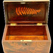 Folk Art Fern Ware Box