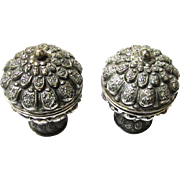 Near Identical Pair of Silver Betel Boxes, Finely Decorated
